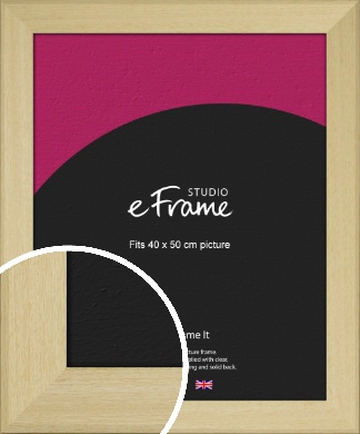 Bareface Chamfered Natural Wood Picture Frame, 40x50cm (VRMP-882-40x50cm)