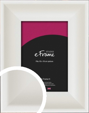 Scooped Daisy White Picture Frame, 10x15cm (4x6