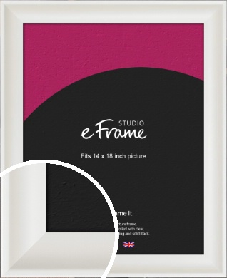 Scooped Daisy White Picture Frame, 14x18