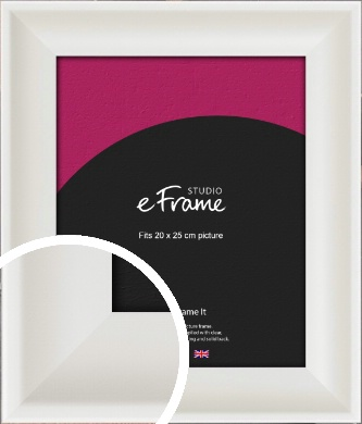 Scooped Daisy White Picture Frame, 20x25cm (8x10