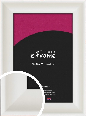 Scooped Daisy White Picture Frame, 20x30cm (8x12