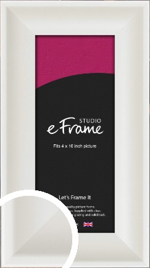 Scooped Daisy White Picture Frame, 4x10