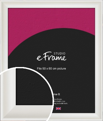 Scooped Daisy White Picture Frame, 50x60cm (VRMP-498-50x60cm)