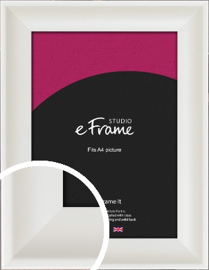 Scooped Daisy White Picture Frame, A4 (210x297mm) (VRMP-498-A4)