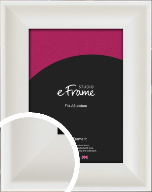 Scooped Daisy White Picture Frame, A5 (148x210mm) (VRMP-498-A5)