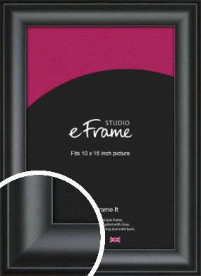 Luxury Scooped Black Picture Frame, 10x15