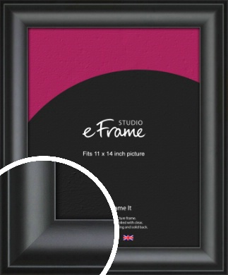 Luxury Scooped Black Picture Frame, 11x14