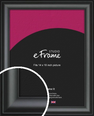 Luxury Scooped Black Picture Frame, 14x18