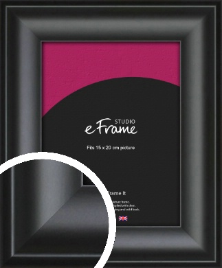 Luxury Scooped Black Picture Frame, 15x20cm (6x8