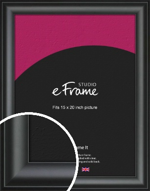 Luxury Scooped Black Picture Frame, 15x20