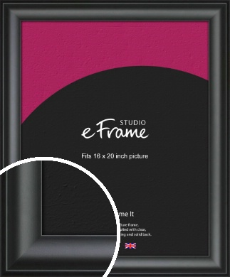 Luxury Scooped Black Picture Frame, 16x20