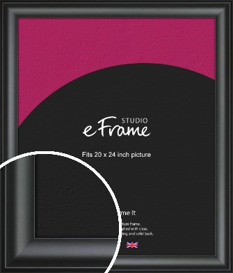 Luxury Scooped Black Picture Frame, 20x24