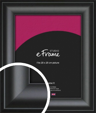 Luxury Scooped Black Picture Frame, 20x25cm (8x10