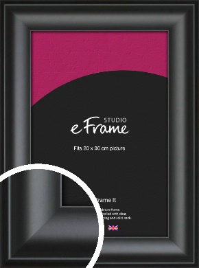 Luxury Scooped Black Picture Frame, 20x30cm (8x12