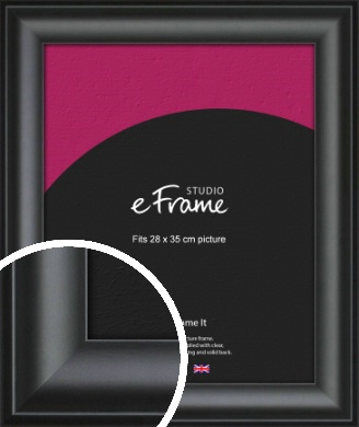 Luxury Scooped Black Picture Frame, 28x35cm (VRMP-884-28x35cm)