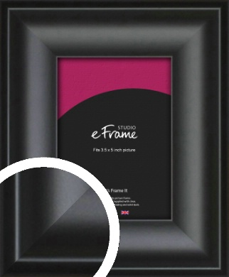 Luxury Scooped Black Picture Frame, 3.5x5