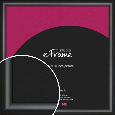 Luxury Scooped Black Picture Frame, 30x30