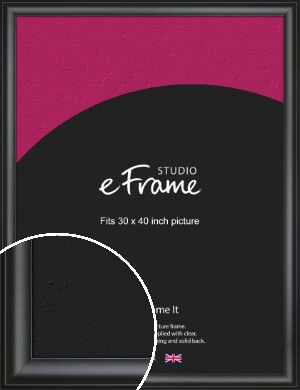 Luxury Scooped Black Picture Frame, 30x40