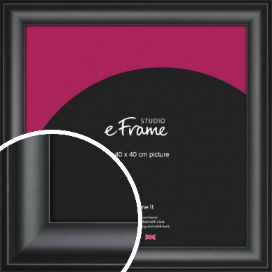 Luxury Scooped Black Picture Frame, 40x40cm (VRMP-884-40x40cm)