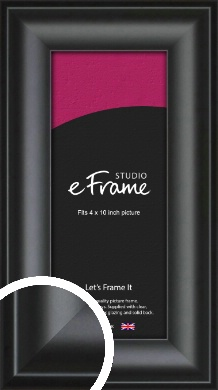 Luxury Scooped Black Picture Frame, 4x10