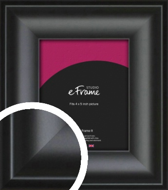 Luxury Scooped Black Picture Frame, 4x5