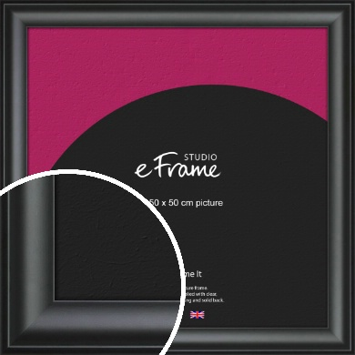 Luxury Scooped Black Picture Frame, 50x50cm (VRMP-884-50x50cm)
