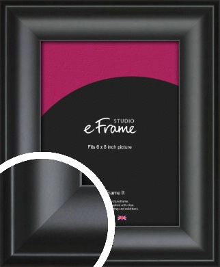 Luxury Scooped Black Picture Frame, 6x8