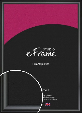 Luxury Scooped Black Picture Frame, A0 (841x1189mm) (VRMP-884-A0)