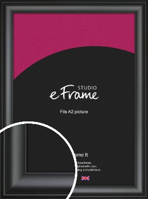 Luxury Scooped Black Picture Frame, A2 (420x594mm) (VRMP-884-A2)