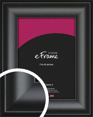 Luxury Scooped Black Picture Frame, A5 (148x210mm) (VRMP-884-A5)