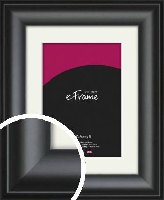 Luxury Scooped Black Picture Frame & Mount (VRMP-884-M)