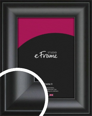 Luxury Scooped Black Picture Frame (VRMP-884)