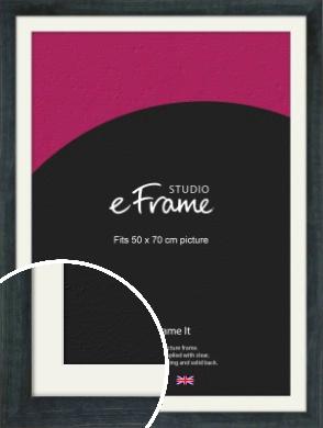Strong Grey Picture Frame & Mount, 50x70cm (VRMP-888-M-50x70cm)