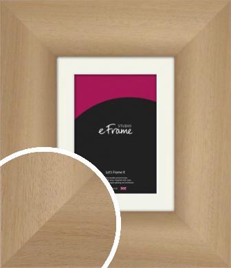 Premium Natural Wood Picture Frame & Mount (VRMP-433-M)