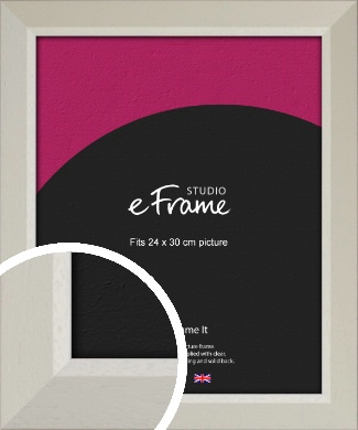 Wide Chamfered Natural Cream Picture Frame, 24x30cm (VRMP-889-24x30cm)
