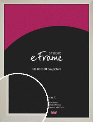 Wide Chamfered Natural Cream Picture Frame, 60x80cm (VRMP-889-60x80cm)