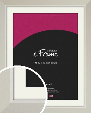 Wide Chamfered Natural Cream Picture Frame & Mount, 12x16