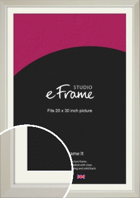 Wide Chamfered Natural Cream Picture Frame & Mount, 20x30