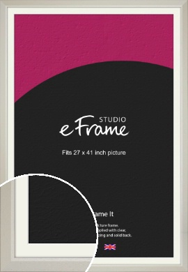 Wide Chamfered Natural Cream Picture Frame & Mount, 27x41