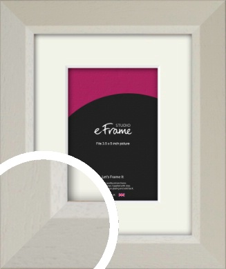 Wide Chamfered Natural Cream Picture Frame & Mount, 3.5x5