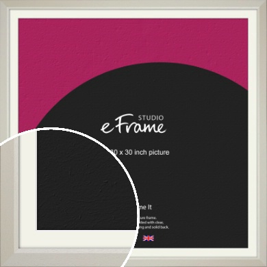 Wide Chamfered Natural Cream Picture Frame & Mount, 30x30