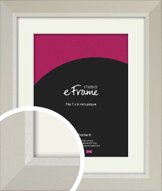 Wide Chamfered Natural Cream Picture Frame & Mount, 7x9