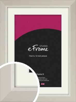 Wide Chamfered Natural Cream Picture Frame & Mount, 8x12