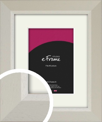Wide Chamfered Natural Cream Picture Frame & Mount, A6 (105x148mm) (VRMP-889-M-A6)