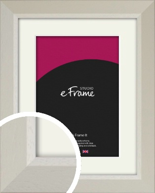 Wide Chamfered Natural Cream Picture Frame & Mount (VRMP-889-M)