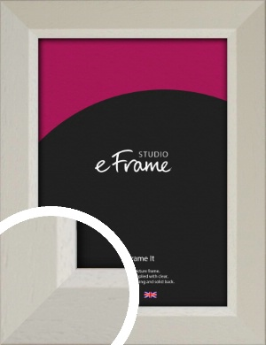 Wide Chamfered Natural Cream Picture Frame (VRMP-889)