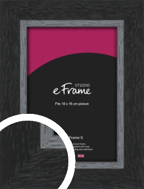 Chamfered Black Picture Frame, 10x15cm (4x6