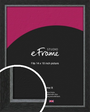 Chamfered Black Picture Frame, 14x18