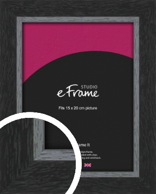 Chamfered Black Picture Frame, 15x20cm (6x8