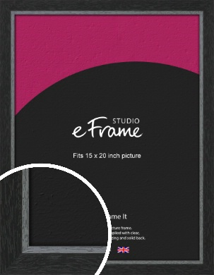 Chamfered Black Picture Frame, 15x20